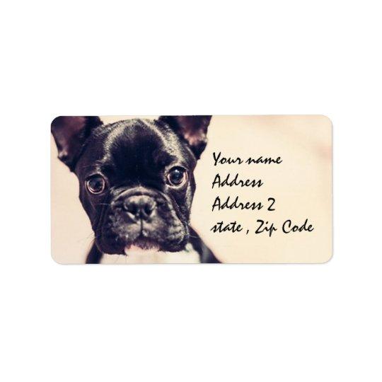 French Bulldog Label
