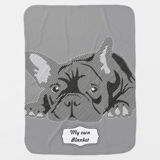 French Bulldog Lines Baby Blanket