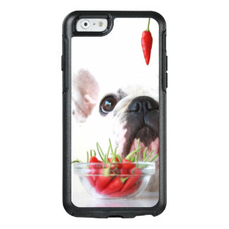 French Bulldog Looking At A Red Pepper OtterBox iPhone 6/6s Case