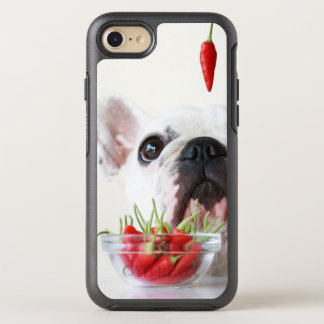 French Bulldog Looking At A Red Pepper OtterBox Symmetry iPhone 8/7 Case