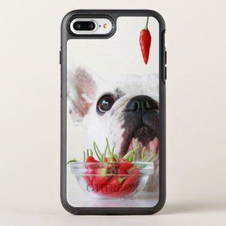French Bulldog Looking At A Red Pepper OtterBox Symmetry iPhone 8 Plus/7 Plus Case