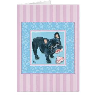 French Bulldog Love 2 Card