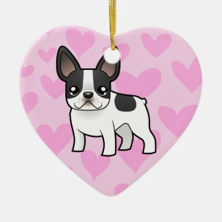 French Bulldog Love (add your own message) Christmas Ornament