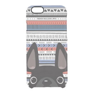 French Bulldog Love Geometric Case - iPhone CLEAR