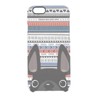 French Bulldog Love Geometric Case - iPhone CLEAR iPhone 6 Plus Case