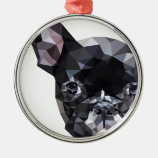 French Bulldog Low Poly Art Christmas Ornament