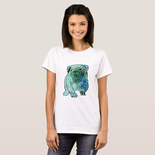 French Bulldog Mandala Art Basic T-Shirt, White T-Shirt