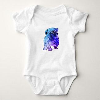 French Bulldog Mandala Art  Jersey Bodysuit, White Baby Bodysuit