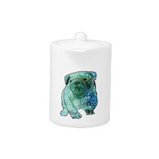 French Bulldog Mandala Art Small Teapot