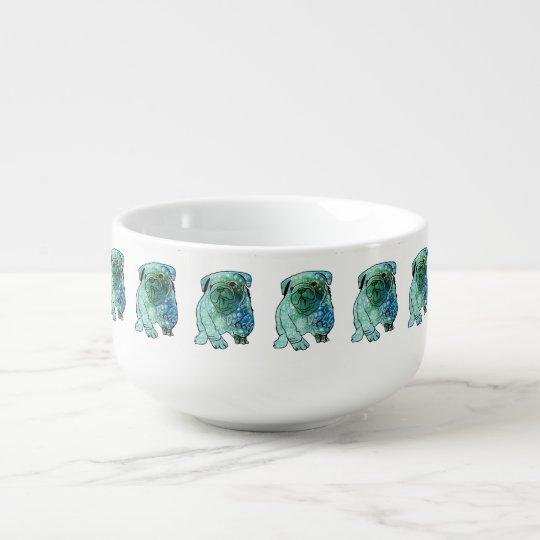 French Bulldog Mandala Art Soup Mug