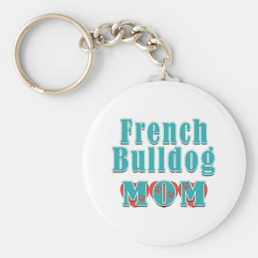 French Bulldog Mom Hearts Keychains