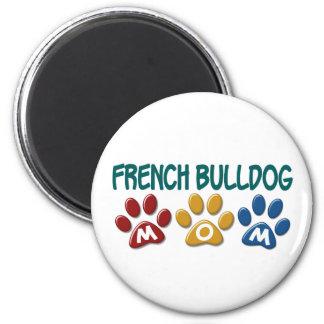 FRENCH BULLDOG Mom Paw Print 1 6 Cm Round Magnet