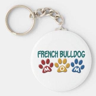 FRENCH BULLDOG Mom Paw Print 1 Basic Round Button Key Ring