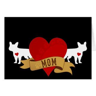 French Bulldog Mom [Tattoo style] Card