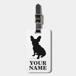 French bulldog (name inserting) luggage tag