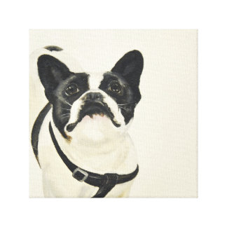 French Bulldog Oil Painting Print on Canvas Stretched Canvas Print