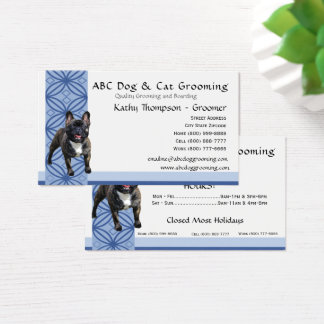 French Bulldog on Blue Design Business Card