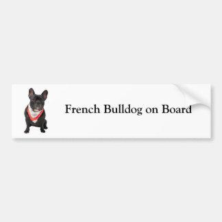 French Bulldog on board custom bumper sticker