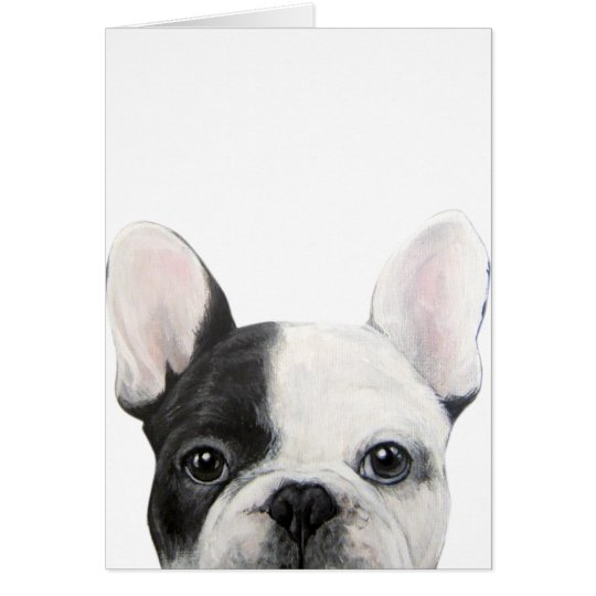 French Bulldog, Original painting by miart Card