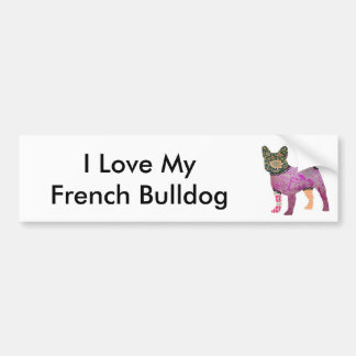 French Bulldog Patchwork Pet Bumper Sticker