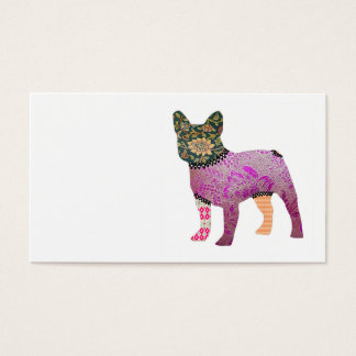 French Bulldog Patchwork Pet Business Cards