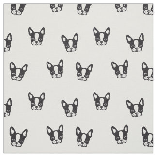French Bulldog pattern fabric