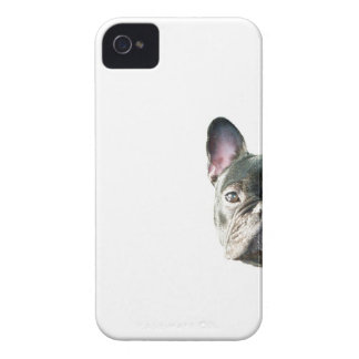 French Bulldog 'peeking' cell phone case