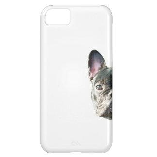 French Bulldog 'peeking' cell phone case