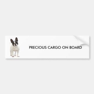 French Bulldog photo bumper sticker, gift idea