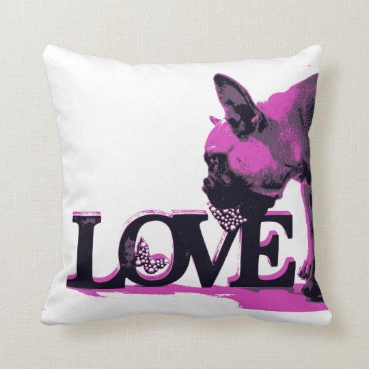 """French Bulldog Polyester Throw Pillow 16"""" x 16"""""""