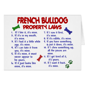 FRENCH BULLDOG Property Laws 2 Card
