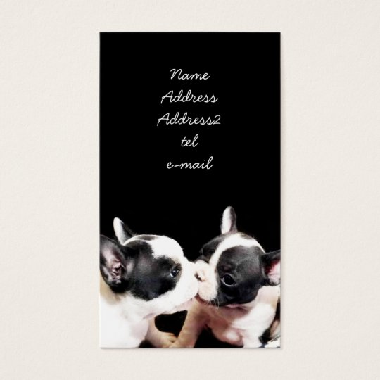 French Bulldog puppies business card