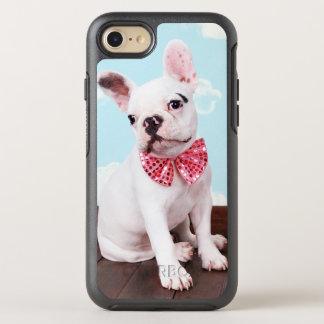 French Bulldog Puppy ( 7 Month Old) With Pink Bow OtterBox Symmetry iPhone 8/7 Case