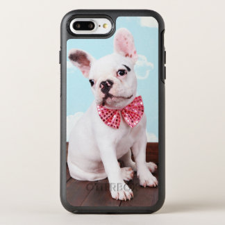 French Bulldog Puppy ( 7 Month Old) With Pink Bow OtterBox Symmetry iPhone 8 Plus/7 Plus Case