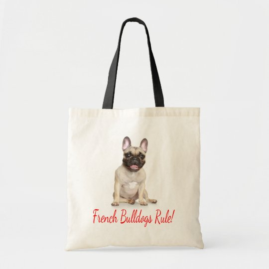 French Bulldog Puppy Dog Canvas Tote Bag
