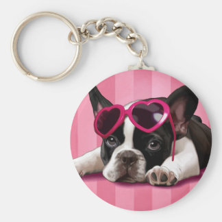 French Bulldog Puppy Key Ring