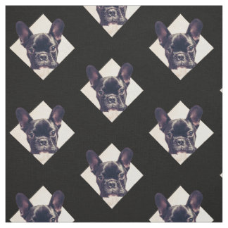 French Bulldog puppy pattern Fabric