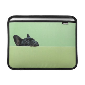 French Bulldog Puppy Peering Over Wall MacBook Sleeve