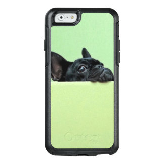 French Bulldog Puppy Peering Over Wall OtterBox iPhone 6/6s Case