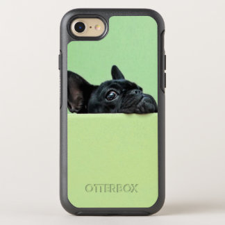 French Bulldog Puppy Peering Over Wall OtterBox Symmetry iPhone 8/7 Case