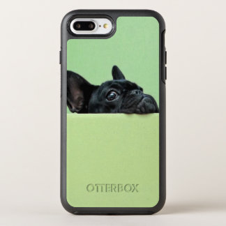 French Bulldog Puppy Peering Over Wall OtterBox Symmetry iPhone 8 Plus/7 Plus Case