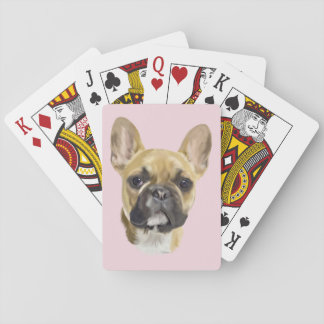 French Bulldog Puppy Playing Cards