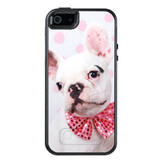 French Bulldog Puppy With Polka Dots OtterBox iPhone 5/5s/SE Case