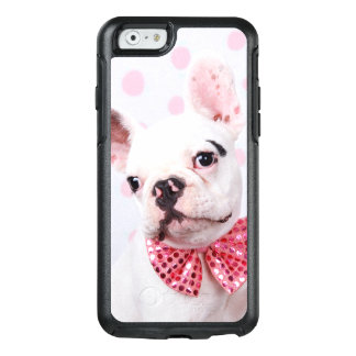 French Bulldog Puppy With Polka Dots OtterBox iPhone 6/6s Case