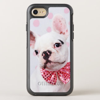 French Bulldog Puppy With Polka Dots OtterBox Symmetry iPhone 8/7 Case