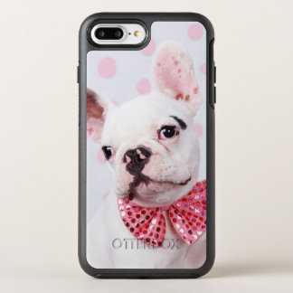 French Bulldog Puppy With Polka Dots OtterBox Symmetry iPhone 8 Plus/7 Plus Case
