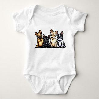 French Bulldog Quartet Baby Bodysuit