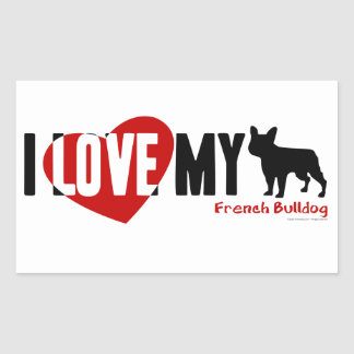French Bulldog Rectangular Sticker