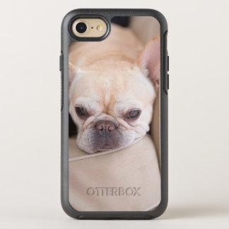 French bulldog resting on sofa OtterBox symmetry iPhone 8/7 case