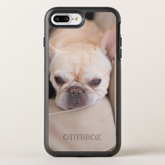 French bulldog resting on sofa OtterBox symmetry iPhone 8 plus/7 plus case